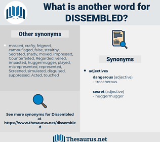 Dissembled, synonym Dissembled, another word for Dissembled, words like Dissembled, thesaurus Dissembled