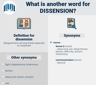 dissension, synonym dissension, another word for dissension, words like dissension, thesaurus dissension