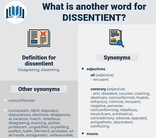 dissentient, synonym dissentient, another word for dissentient, words like dissentient, thesaurus dissentient