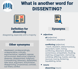 dissenting, synonym dissenting, another word for dissenting, words like dissenting, thesaurus dissenting