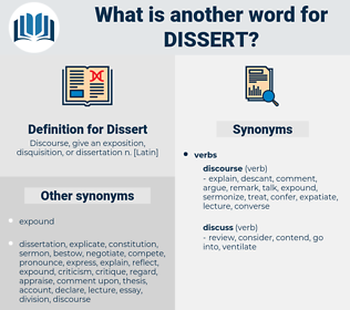 Dissert, synonym Dissert, another word for Dissert, words like Dissert, thesaurus Dissert