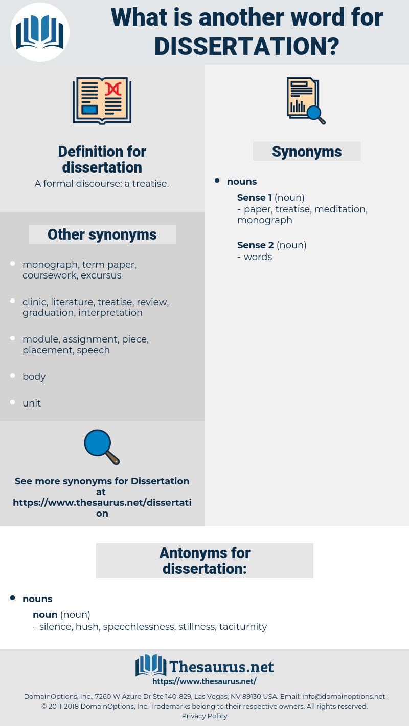 dissertation, synonym dissertation, another word for dissertation, words like dissertation, thesaurus dissertation