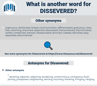 Dissevered, synonym Dissevered, another word for Dissevered, words like Dissevered, thesaurus Dissevered
