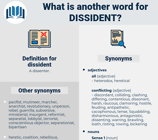 dissident, synonym dissident, another word for dissident, words like dissident, thesaurus dissident