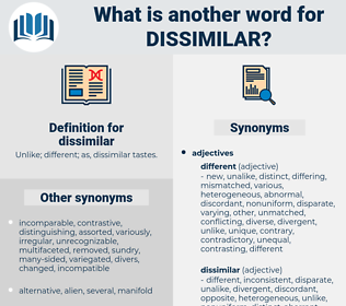 dissimilar, synonym dissimilar, another word for dissimilar, words like dissimilar, thesaurus dissimilar
