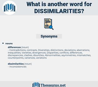 dissimilarities, synonym dissimilarities, another word for dissimilarities, words like dissimilarities, thesaurus dissimilarities