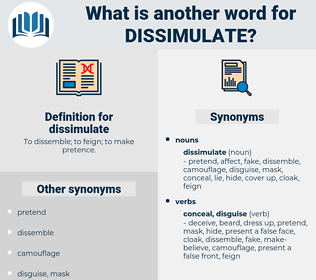 dissimulate, synonym dissimulate, another word for dissimulate, words like dissimulate, thesaurus dissimulate