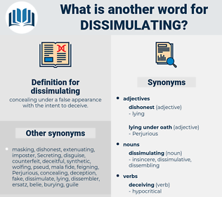 dissimulating, synonym dissimulating, another word for dissimulating, words like dissimulating, thesaurus dissimulating