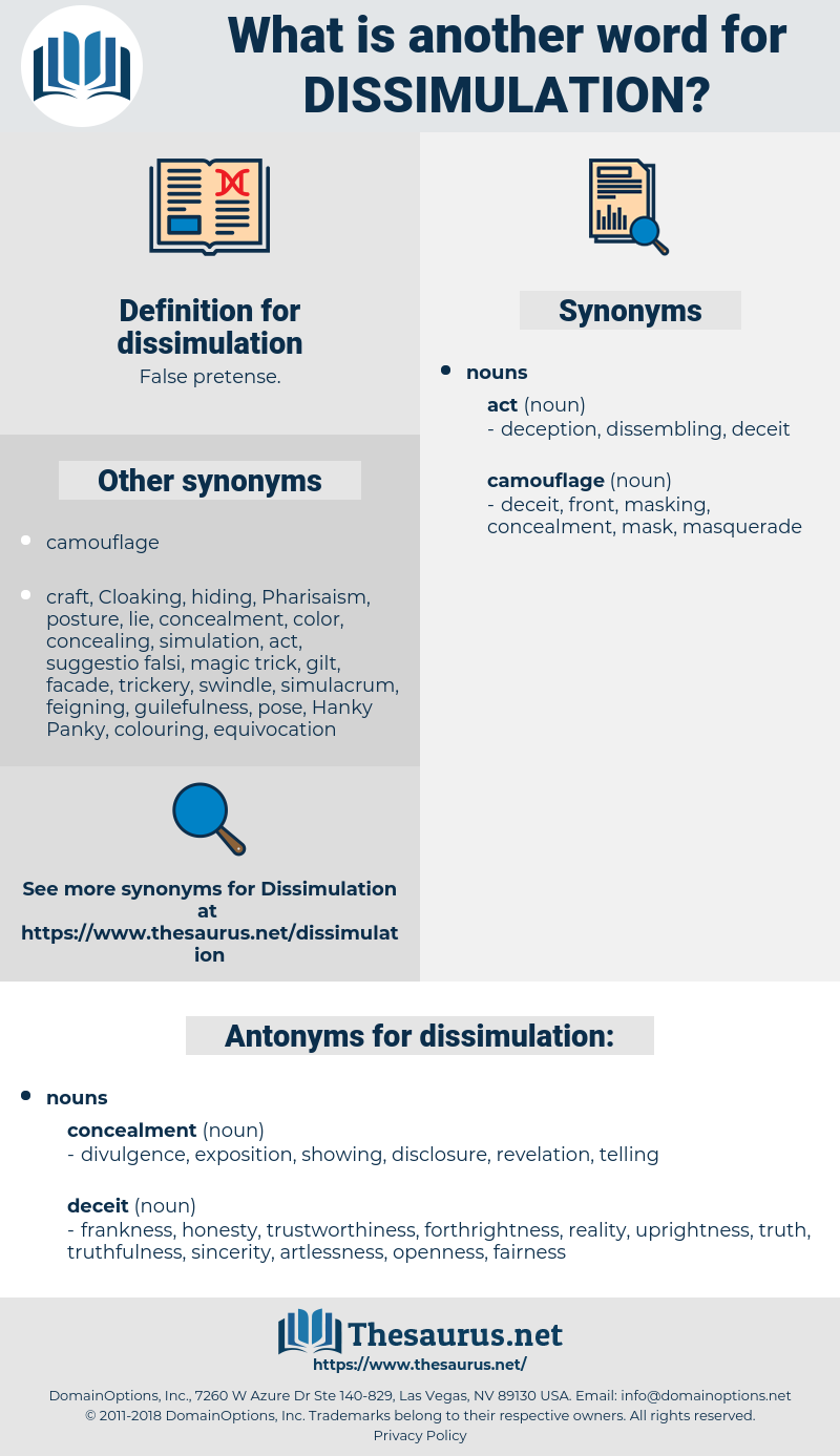 dissimulation, synonym dissimulation, another word for dissimulation, words like dissimulation, thesaurus dissimulation