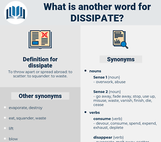 dissipate, synonym dissipate, another word for dissipate, words like dissipate, thesaurus dissipate