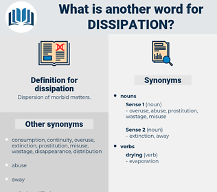 dissipation, synonym dissipation, another word for dissipation, words like dissipation, thesaurus dissipation