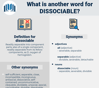 dissociable, synonym dissociable, another word for dissociable, words like dissociable, thesaurus dissociable