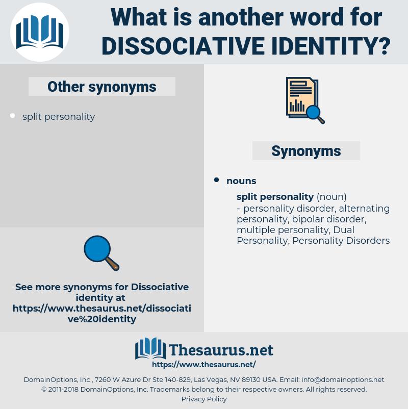 dissociative identity, synonym dissociative identity, another word for dissociative identity, words like dissociative identity, thesaurus dissociative identity