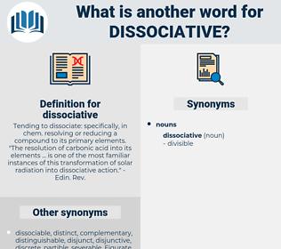 dissociative, synonym dissociative, another word for dissociative, words like dissociative, thesaurus dissociative