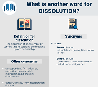 dissolution, synonym dissolution, another word for dissolution, words like dissolution, thesaurus dissolution