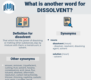 dissolvent, synonym dissolvent, another word for dissolvent, words like dissolvent, thesaurus dissolvent