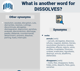 dissolves, synonym dissolves, another word for dissolves, words like dissolves, thesaurus dissolves