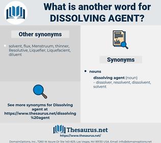 dissolving agent, synonym dissolving agent, another word for dissolving agent, words like dissolving agent, thesaurus dissolving agent