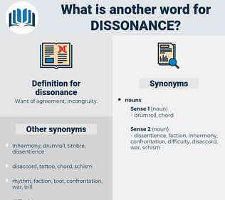 dissonance, synonym dissonance, another word for dissonance, words like dissonance, thesaurus dissonance