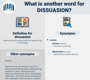 dissuasion, synonym dissuasion, another word for dissuasion, words like dissuasion, thesaurus dissuasion