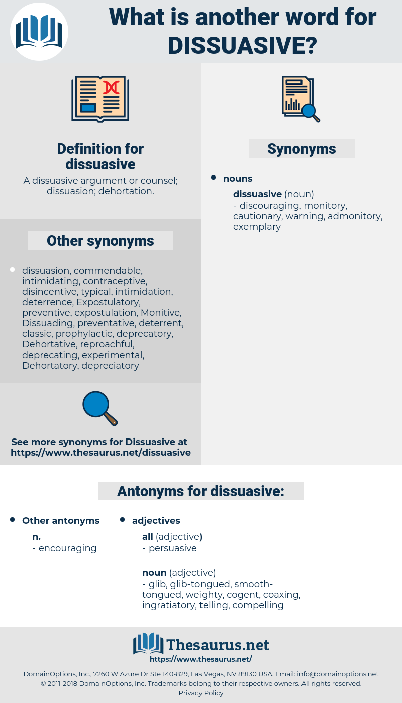 dissuasive, synonym dissuasive, another word for dissuasive, words like dissuasive, thesaurus dissuasive