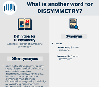 Dissymmetry, synonym Dissymmetry, another word for Dissymmetry, words like Dissymmetry, thesaurus Dissymmetry