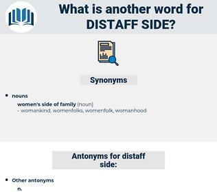 distaff side, synonym distaff side, another word for distaff side, words like distaff side, thesaurus distaff side