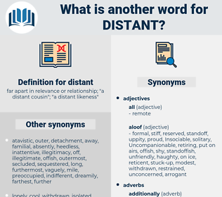 distant, synonym distant, another word for distant, words like distant, thesaurus distant