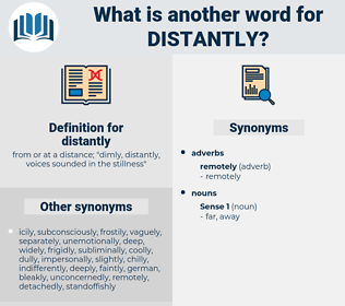 distantly, synonym distantly, another word for distantly, words like distantly, thesaurus distantly