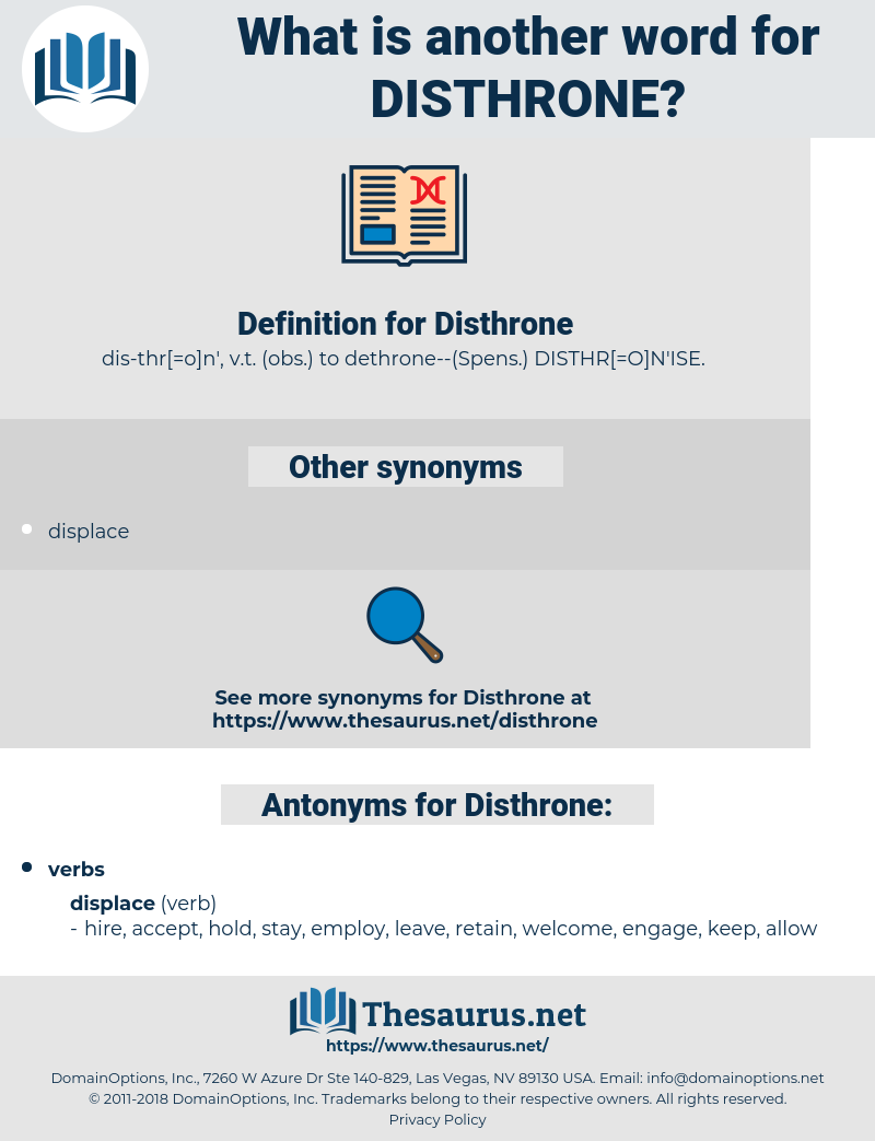 Disthrone, synonym Disthrone, another word for Disthrone, words like Disthrone, thesaurus Disthrone