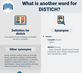 distich, synonym distich, another word for distich, words like distich, thesaurus distich