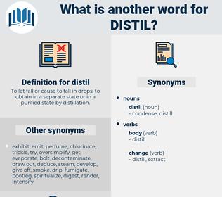 distil, synonym distil, another word for distil, words like distil, thesaurus distil