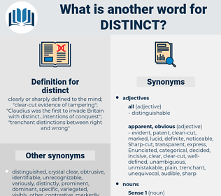 distinct, synonym distinct, another word for distinct, words like distinct, thesaurus distinct