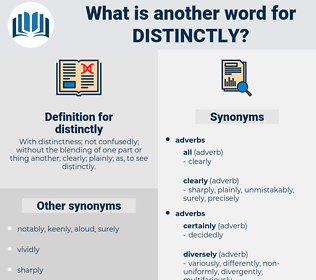 distinctly, synonym distinctly, another word for distinctly, words like distinctly, thesaurus distinctly