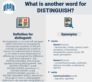 distinguish, synonym distinguish, another word for distinguish, words like distinguish, thesaurus distinguish