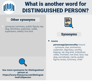 distinguished person, synonym distinguished person, another word for distinguished person, words like distinguished person, thesaurus distinguished person