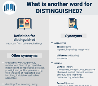 distinguished, synonym distinguished, another word for distinguished, words like distinguished, thesaurus distinguished