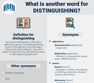 distinguishing, synonym distinguishing, another word for distinguishing, words like distinguishing, thesaurus distinguishing