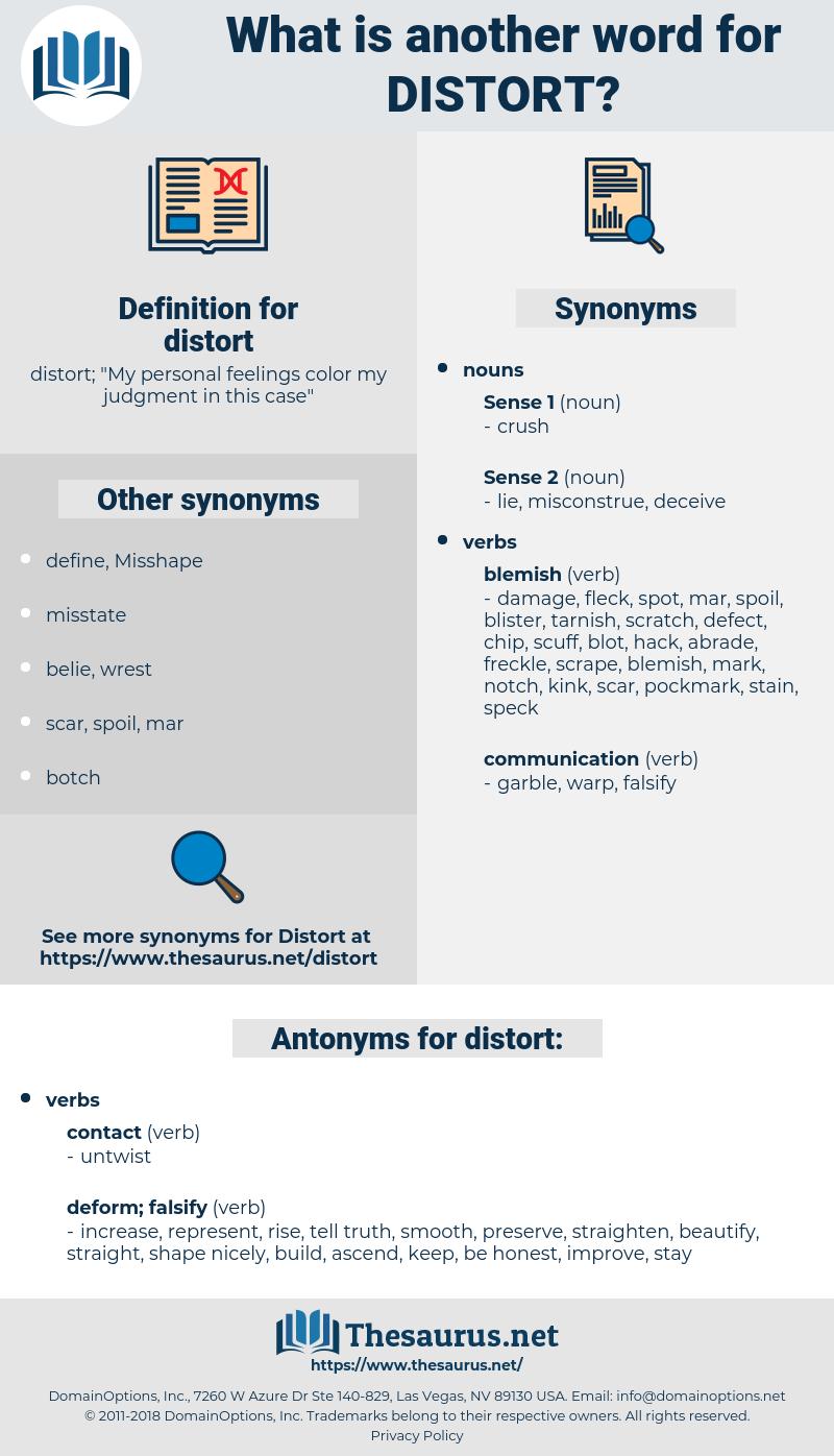 distort, synonym distort, another word for distort, words like distort, thesaurus distort