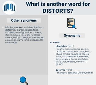 distorts, synonym distorts, another word for distorts, words like distorts, thesaurus distorts