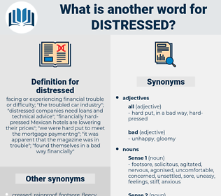 distressed, synonym distressed, another word for distressed, words like distressed, thesaurus distressed