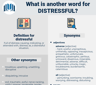 distressful, synonym distressful, another word for distressful, words like distressful, thesaurus distressful