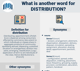 distribution, synonym distribution, another word for distribution, words like distribution, thesaurus distribution