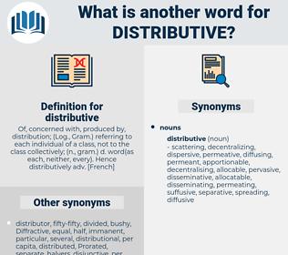 distributive, synonym distributive, another word for distributive, words like distributive, thesaurus distributive