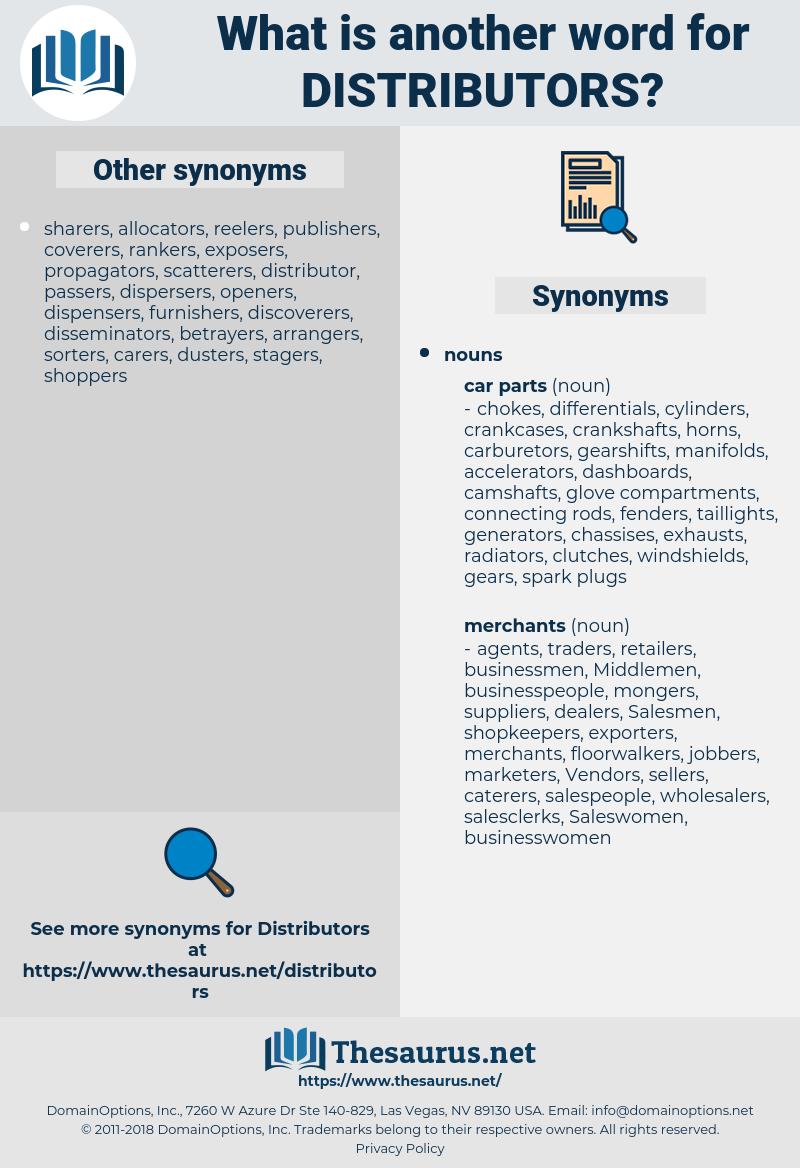 distributors, synonym distributors, another word for distributors, words like distributors, thesaurus distributors