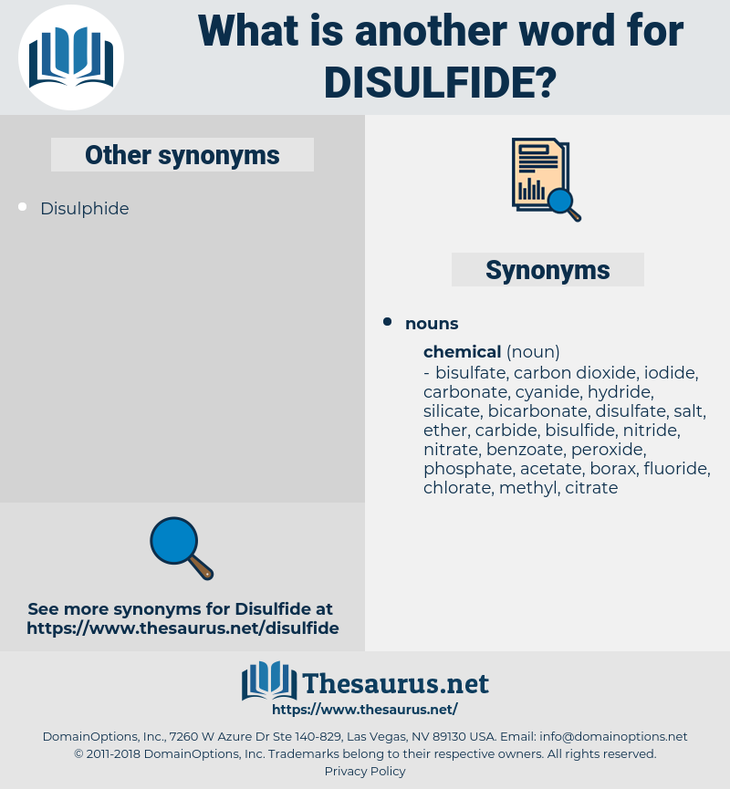 disulfide, synonym disulfide, another word for disulfide, words like disulfide, thesaurus disulfide