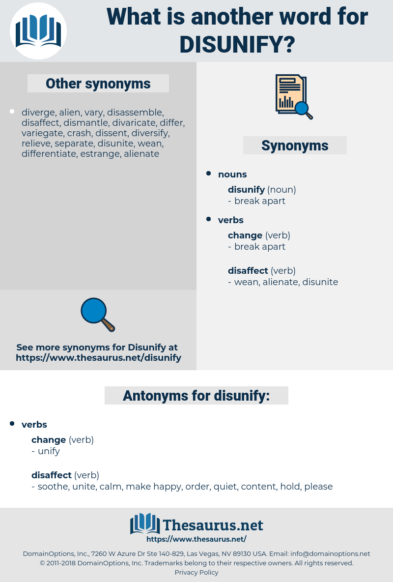 disunify, synonym disunify, another word for disunify, words like disunify, thesaurus disunify