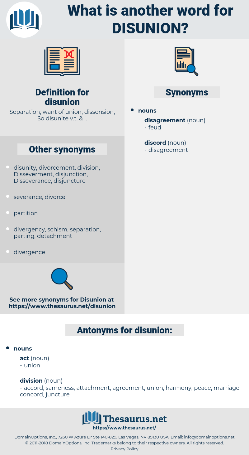 disunion, synonym disunion, another word for disunion, words like disunion, thesaurus disunion