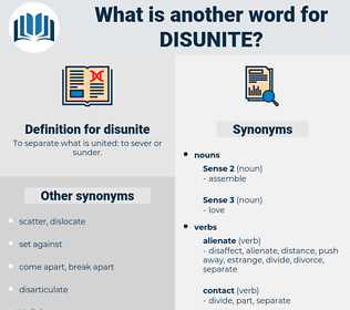 disunite, synonym disunite, another word for disunite, words like disunite, thesaurus disunite