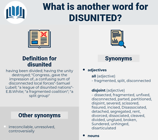 disunited, synonym disunited, another word for disunited, words like disunited, thesaurus disunited